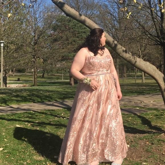 Dresses Rose Gold Glitter Prom Dress Poshmark